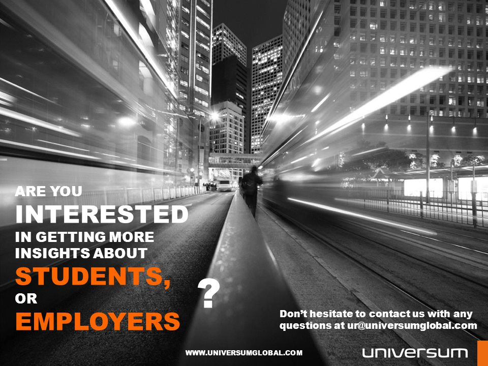 Are you INTERESTED In getting MORE insights about students, or employers.