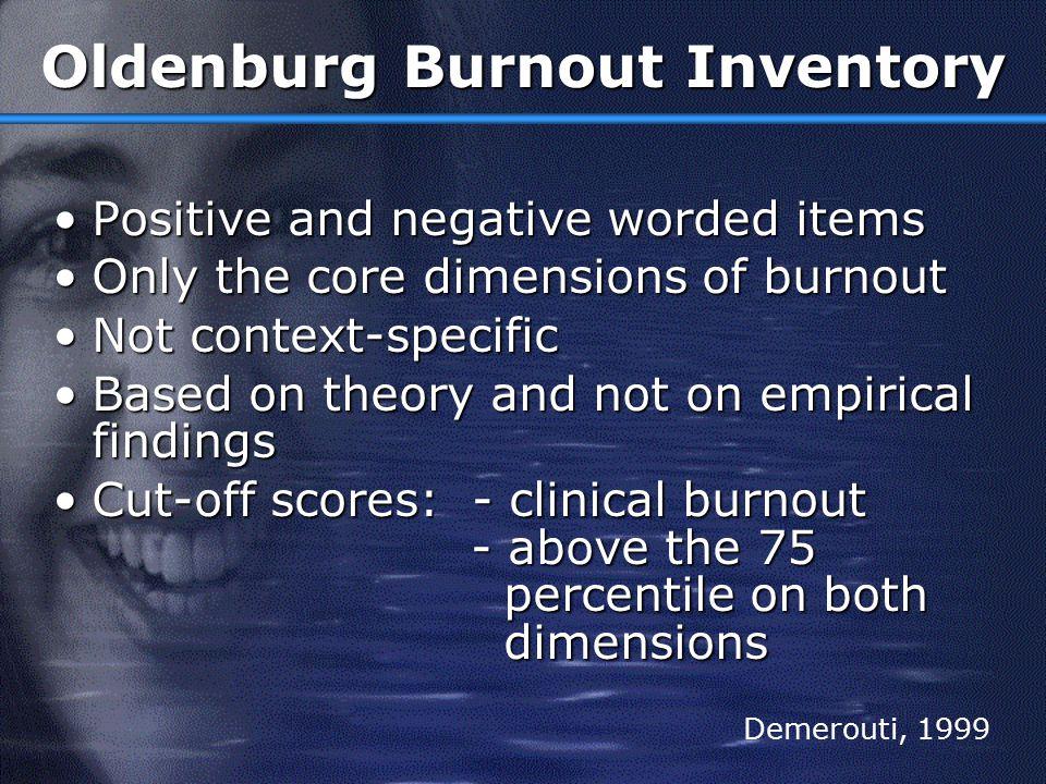 Oldenburg Burnout Inventory