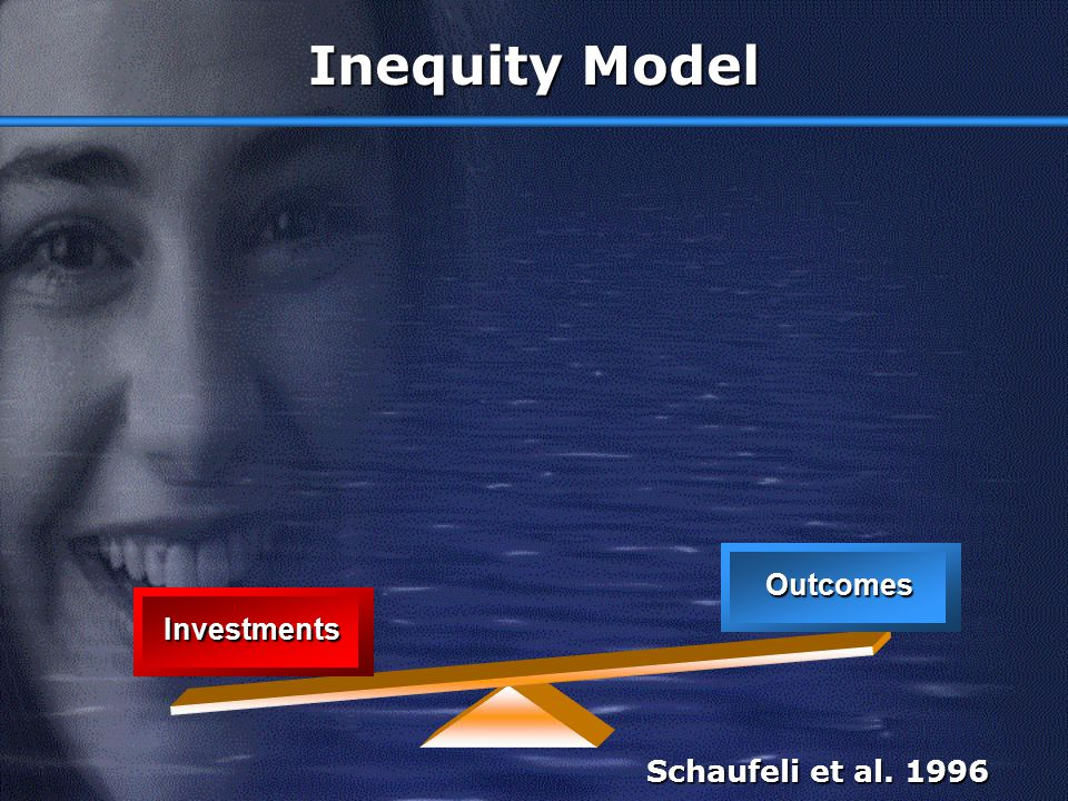Inequity Model Outcomes Investments Schaufeli et al. 1996