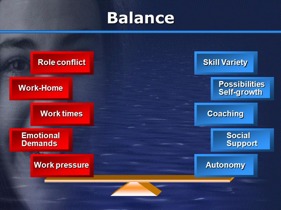 Balance Role conflict Skill Variety Work-Home