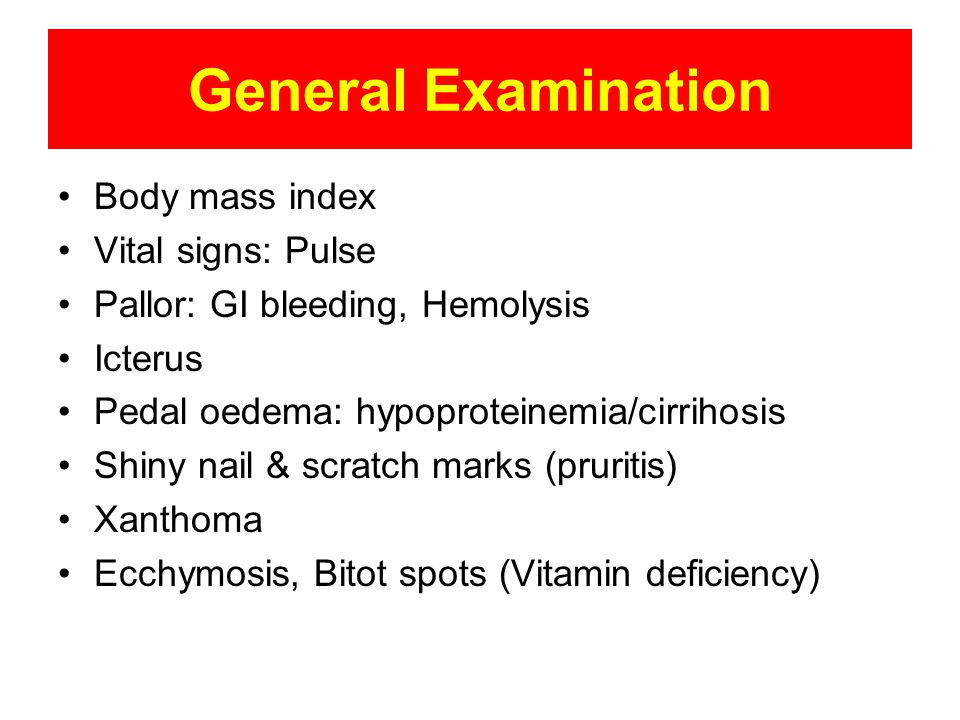 General Examination Body mass index Vital signs: Pulse