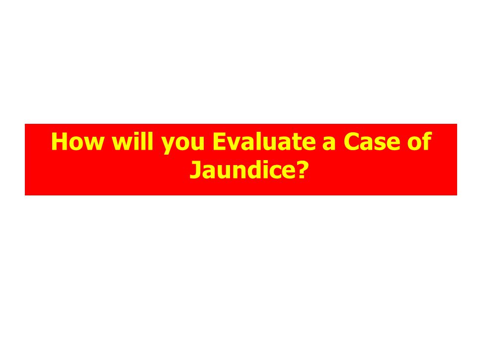 How will you Evaluate a Case of Jaundice