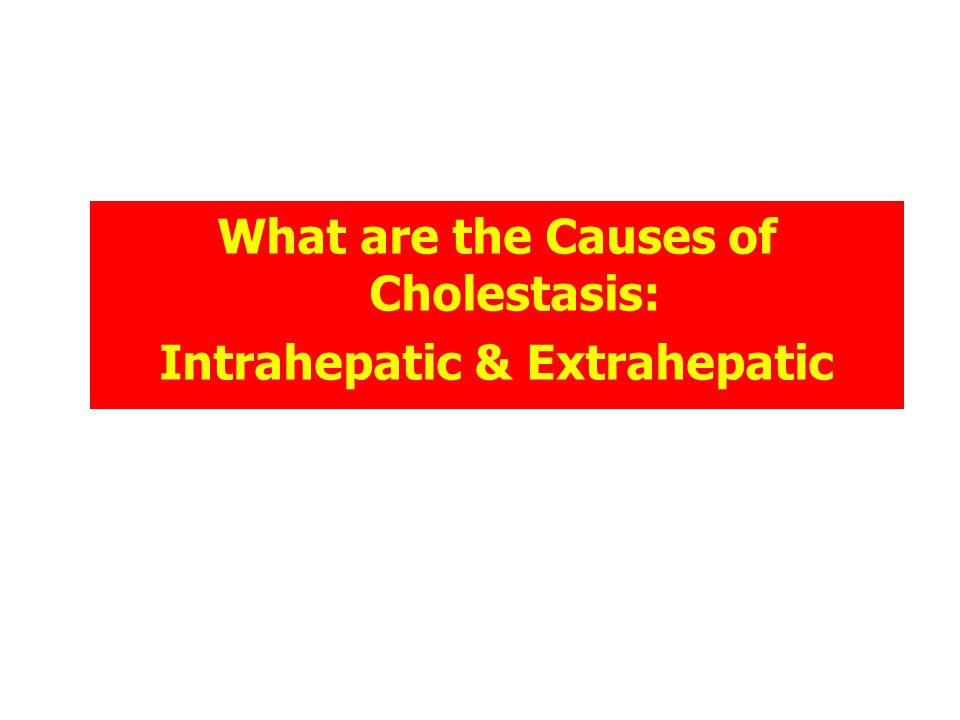 What are the Causes of Cholestasis: Intrahepatic & Extrahepatic