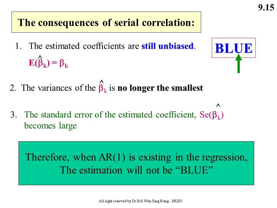 The consequences of serial correlation: