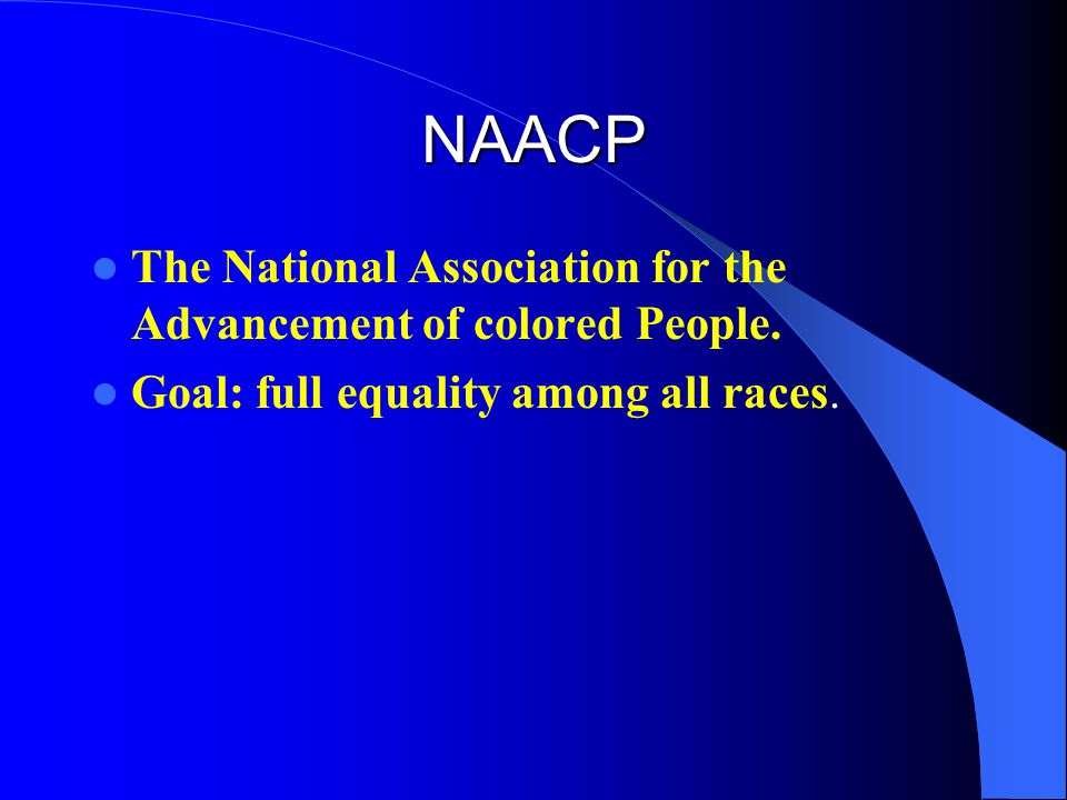 a review of the national association of the advancement of colored people National association for the advancement of colored people  (national office review and  advancement of colored people and should be read in conjunction with.