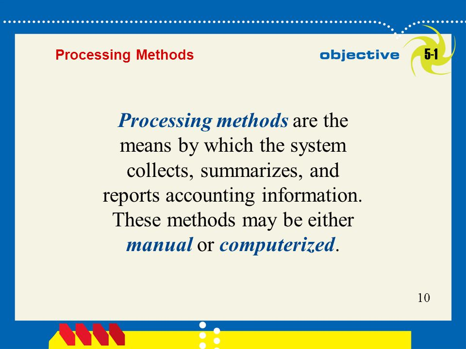 Processing Methods 5-1.