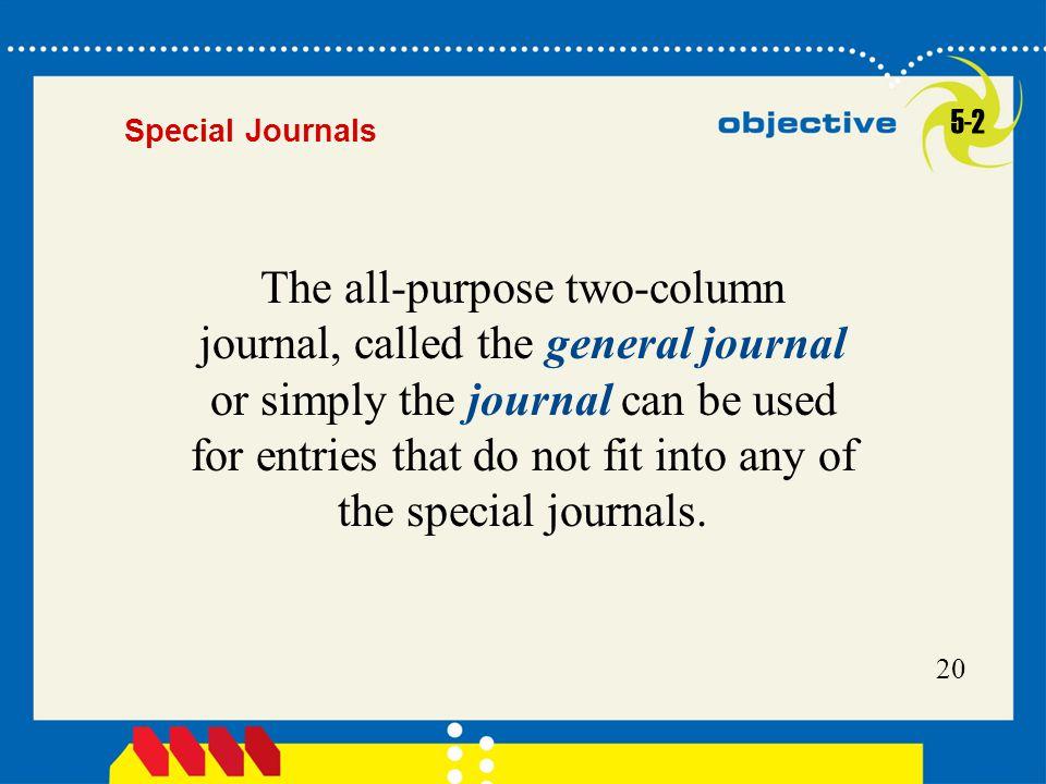 5-2 Special Journals.