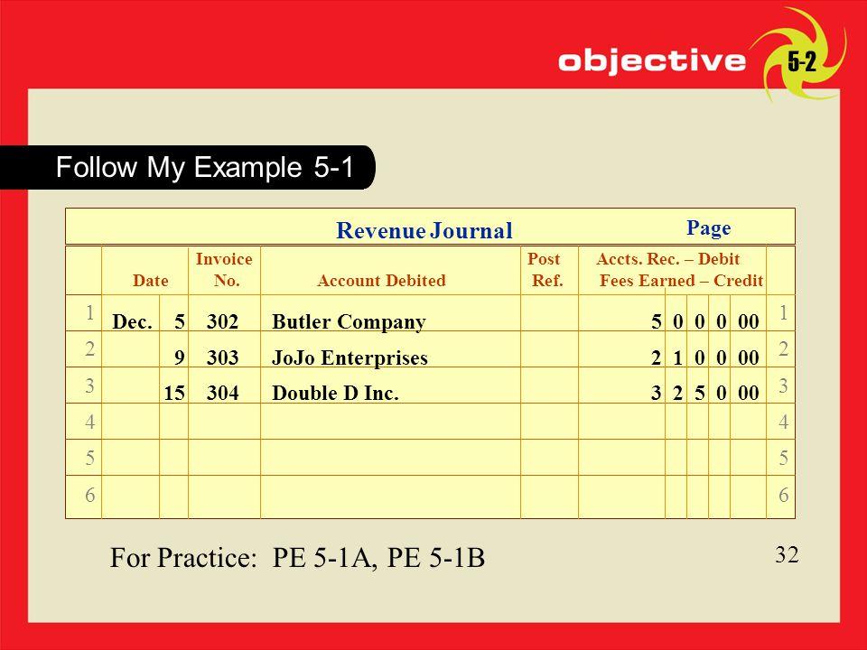 For Practice: PE 5-1A, PE 5-1B