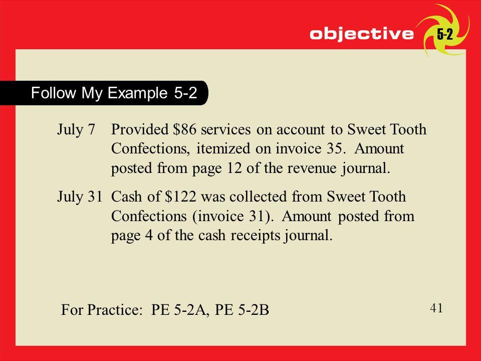 For Practice: PE 5-2A, PE 5-2B