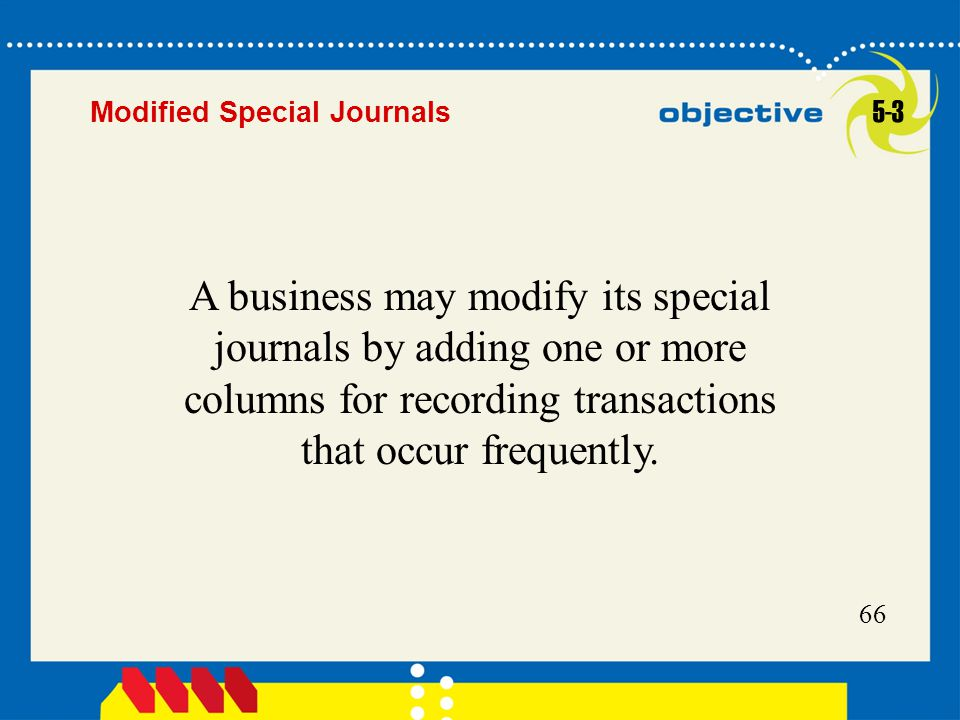 Modified Special Journals 5-3.
