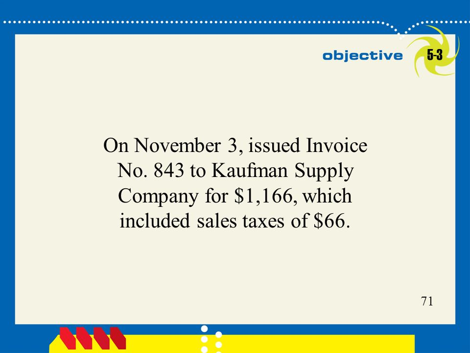 5-3 On November 3, issued Invoice No.