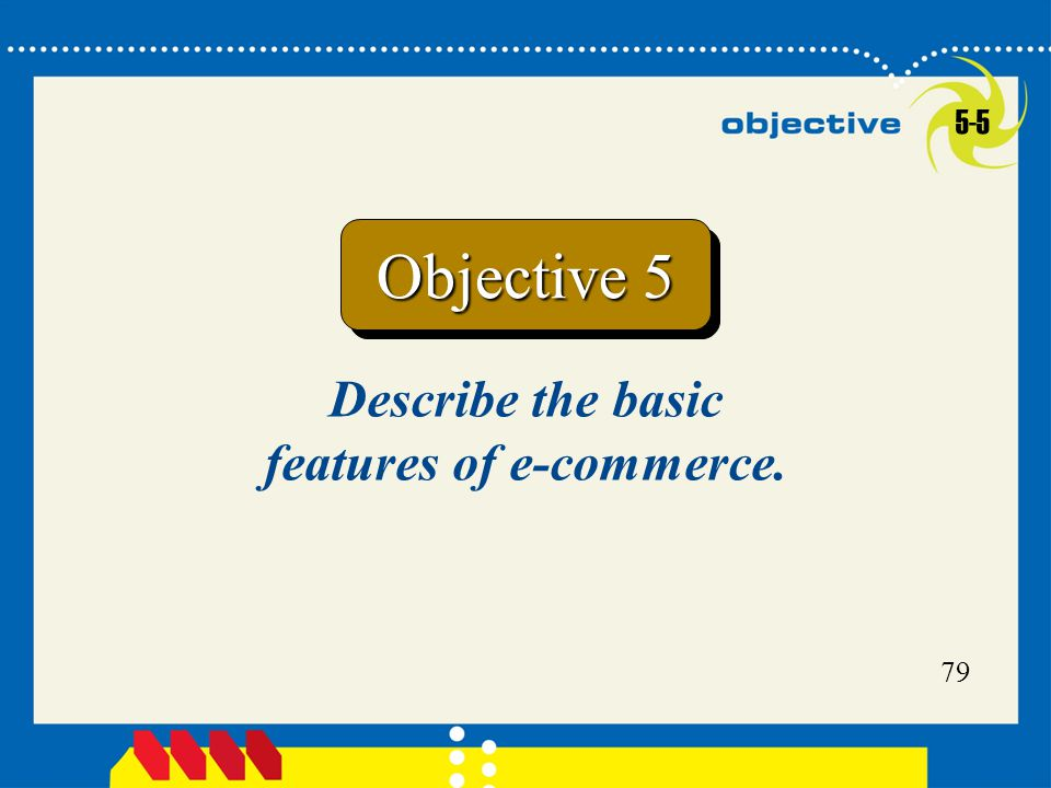 Describe the basic features of e-commerce.