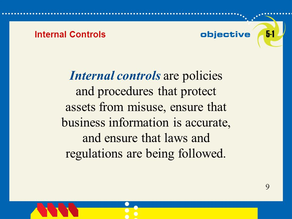 Internal Controls 5-1.
