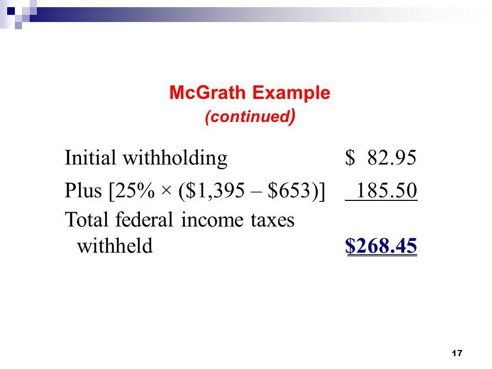 McGrath Example (continued)