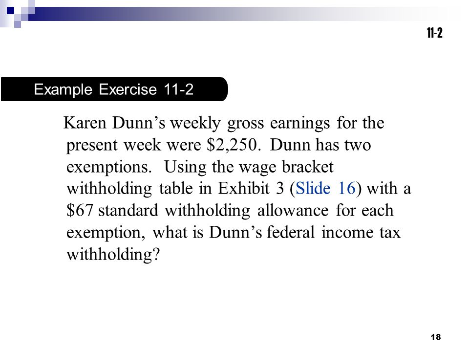 11-2 Example Exercise 11-2.