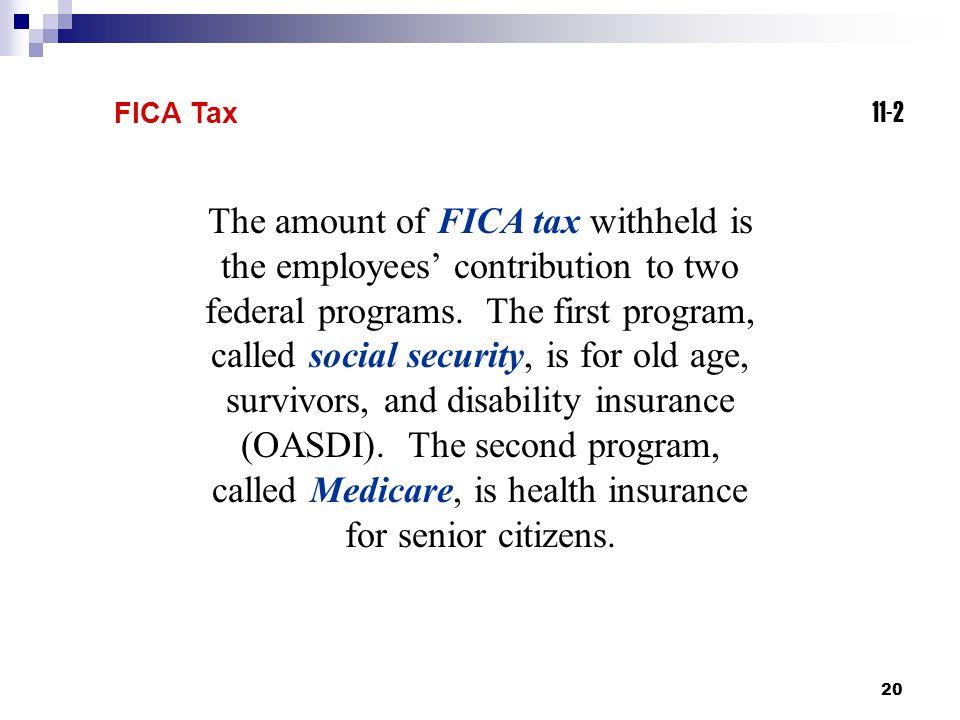 FICA Tax 11-2.