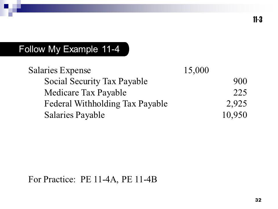 Social Security Tax Payable 900 Medicare Tax Payable 225