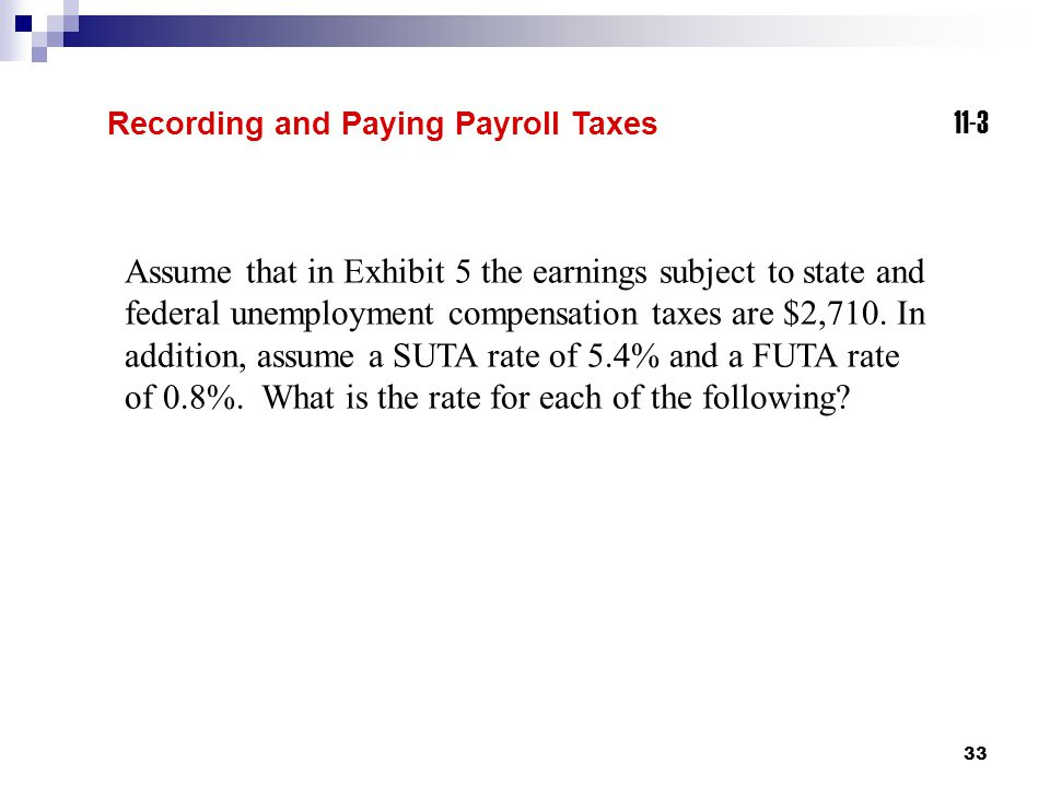 Recording and Paying Payroll Taxes 11-3.