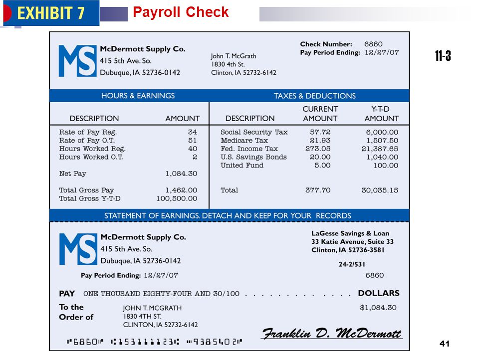 Payroll Check 11-3