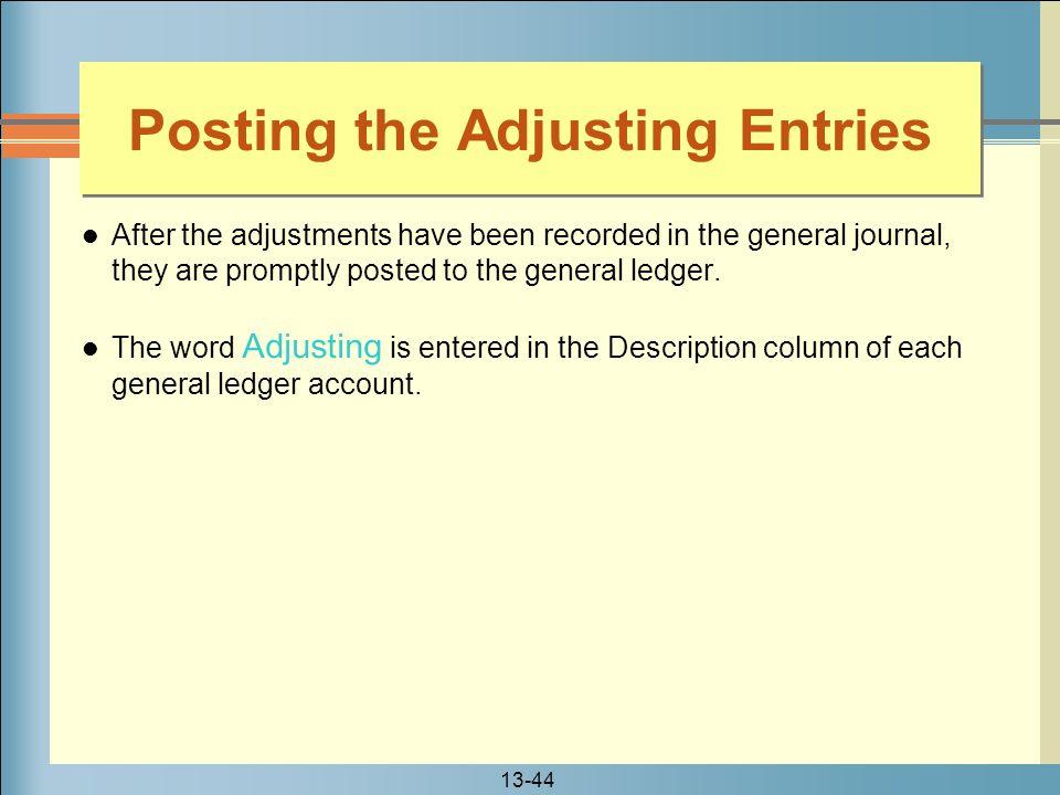 Posting the Adjusting Entries