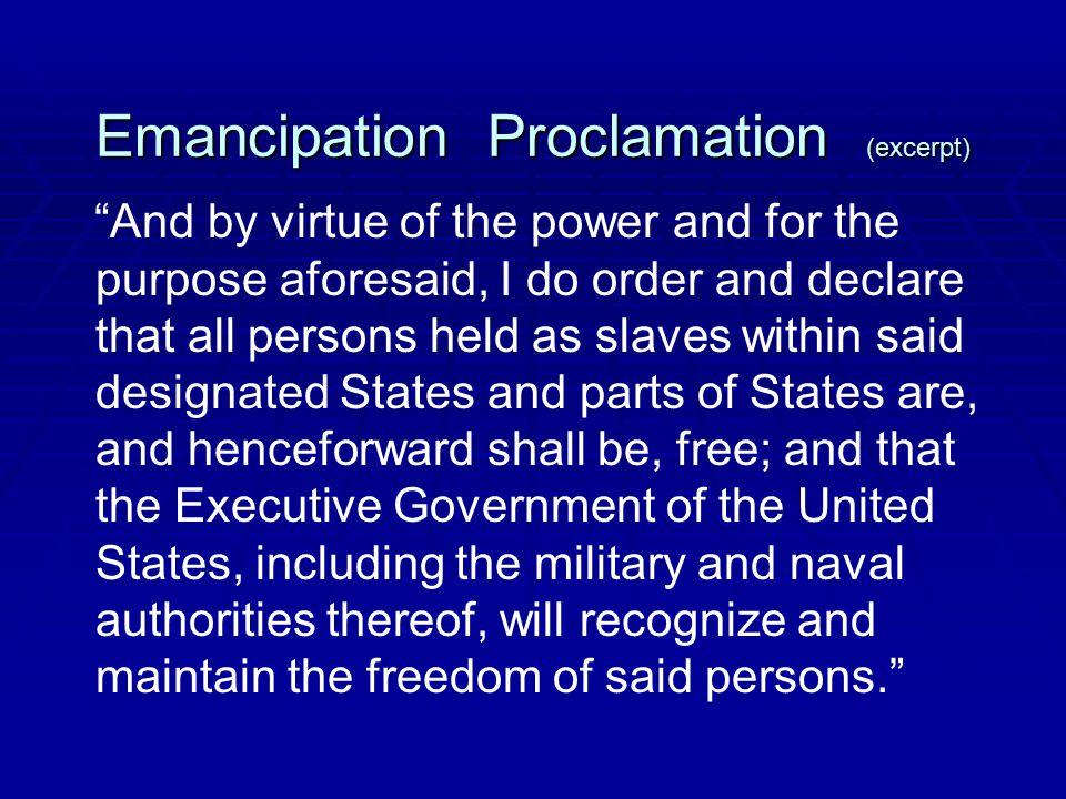 Emancipation Proclamation (excerpt)