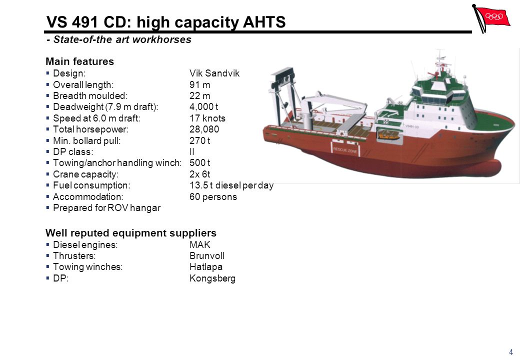 VS 491 CD: high capacity AHTS - State-of-the art workhorses