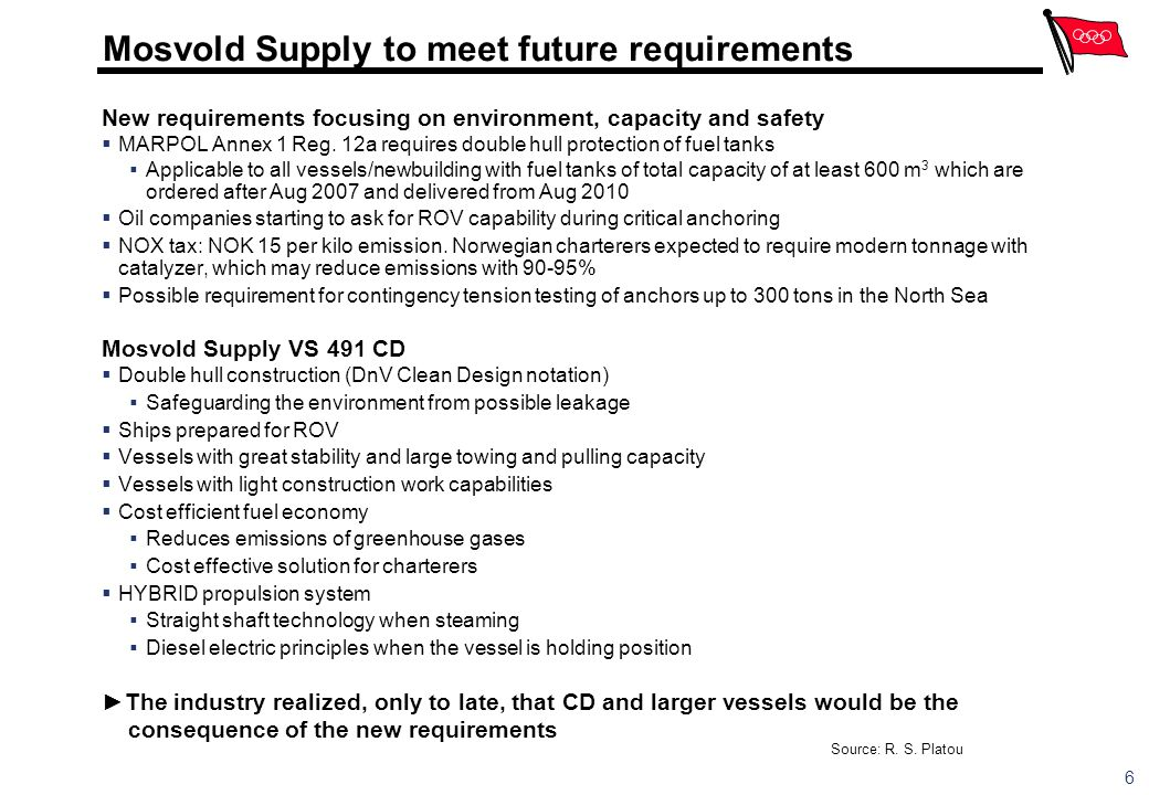 Mosvold Supply to meet future requirements