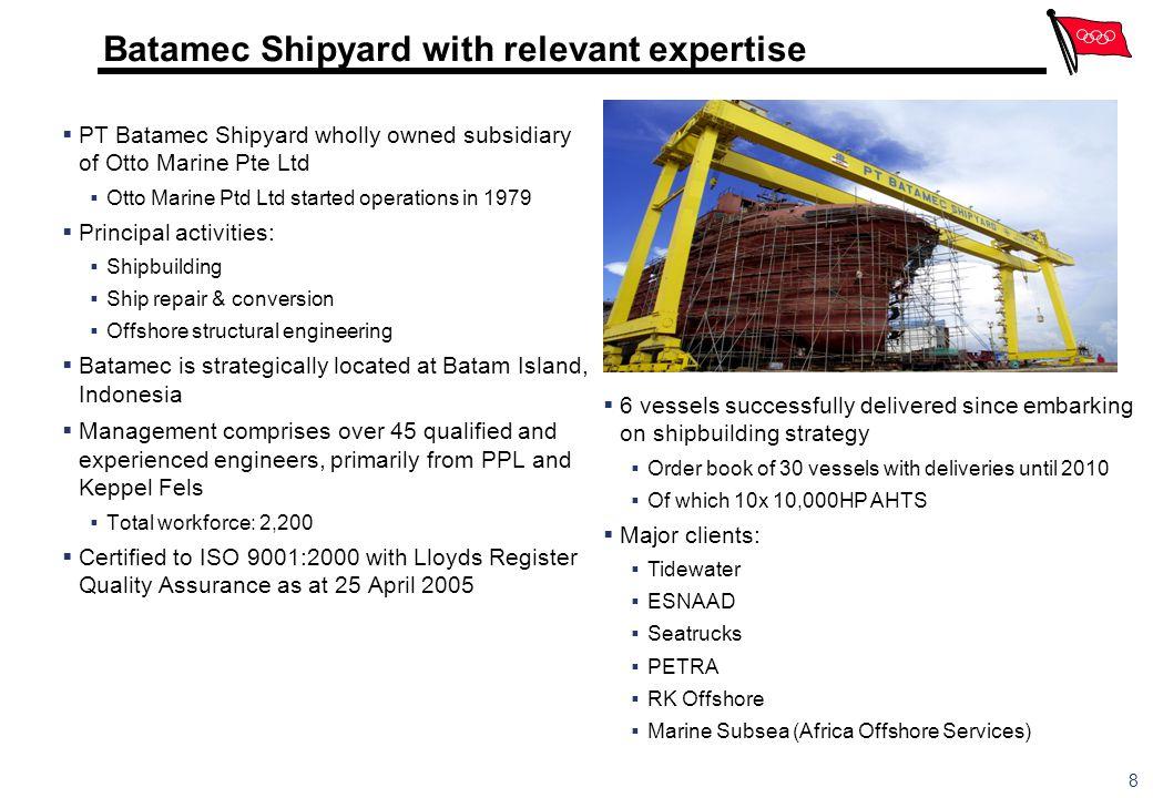 Batamec Shipyard with relevant expertise