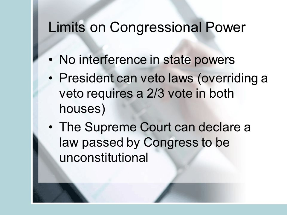 Limits on Congressional Power