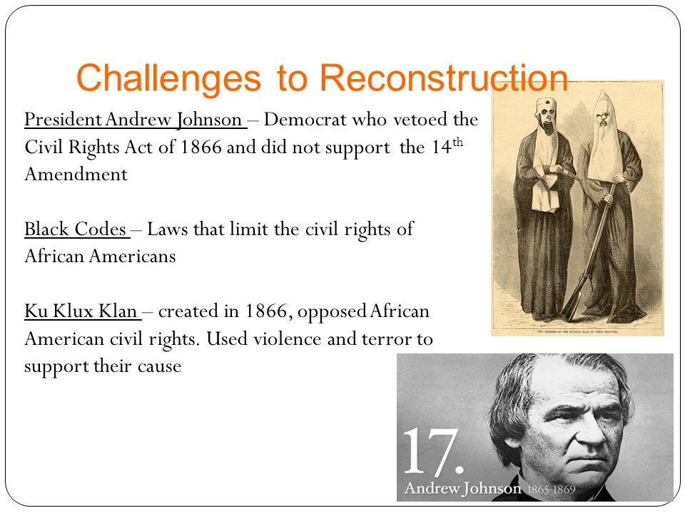 Challenges to Reconstruction