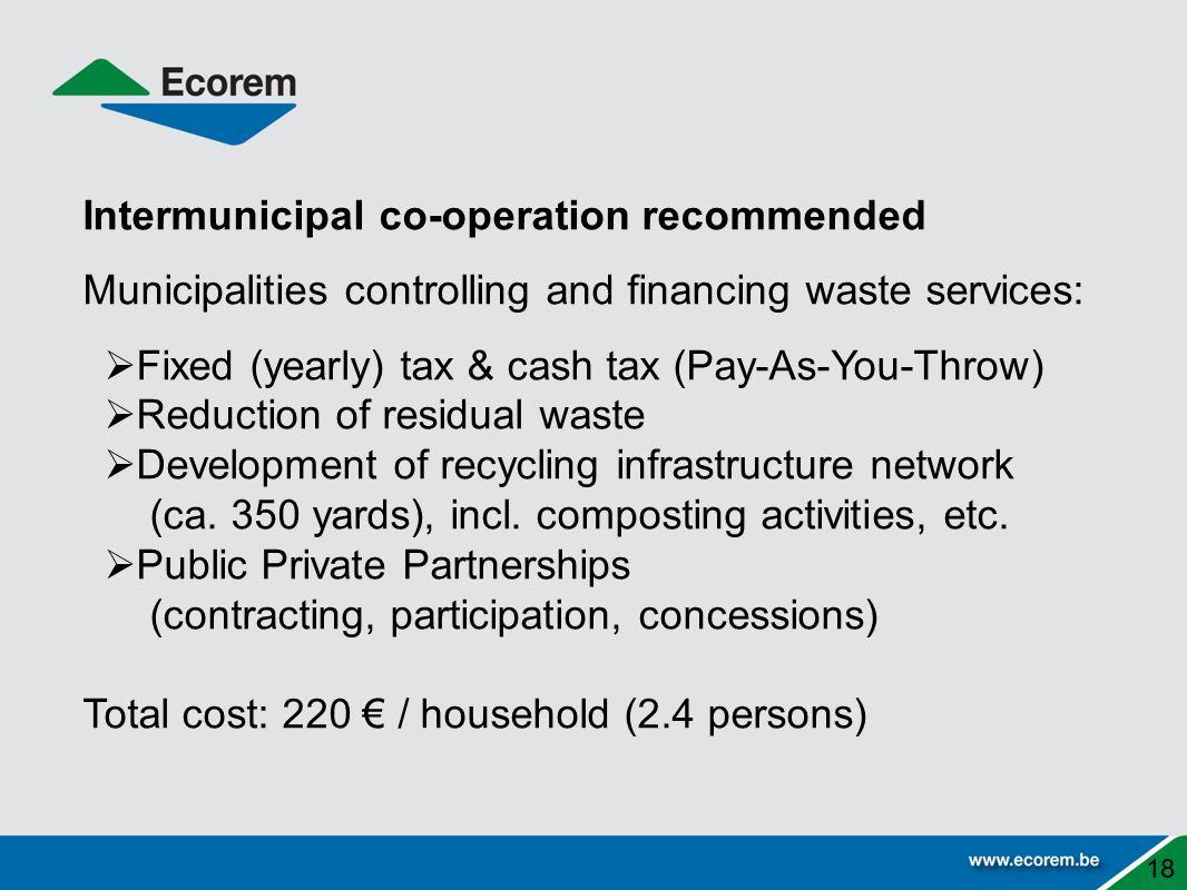 Intermunicipal co-operation recommended