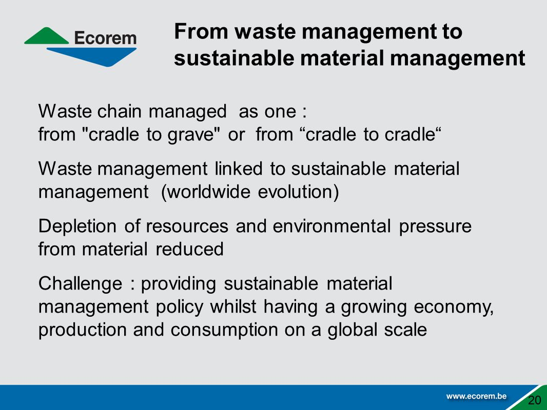 From waste management to sustainable material management
