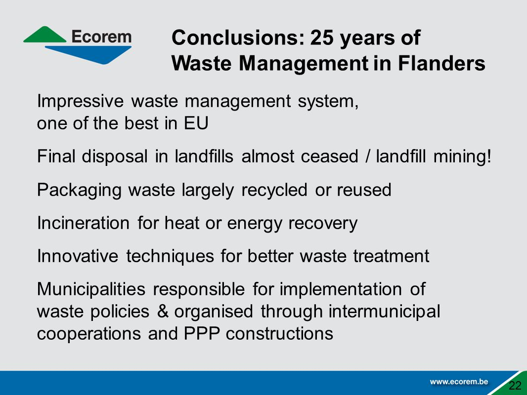 Waste Management in Flanders
