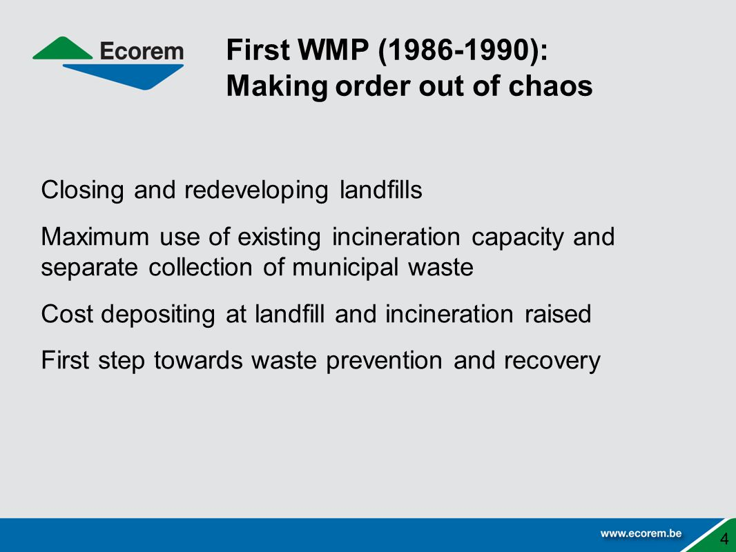 First WMP (1986-1990): Making order out of chaos