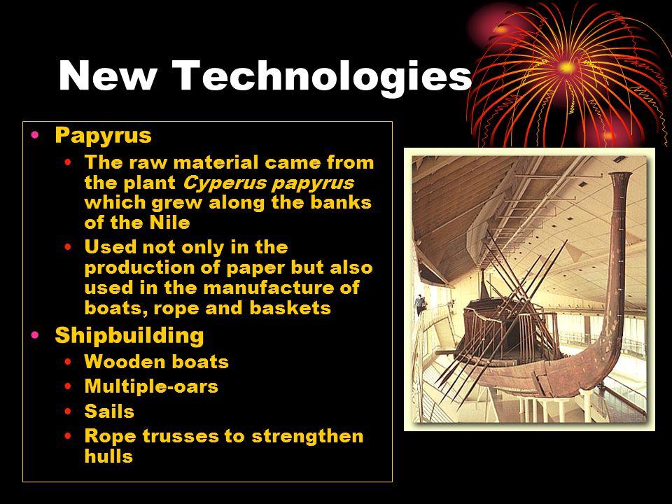 New Technologies Papyrus Shipbuilding