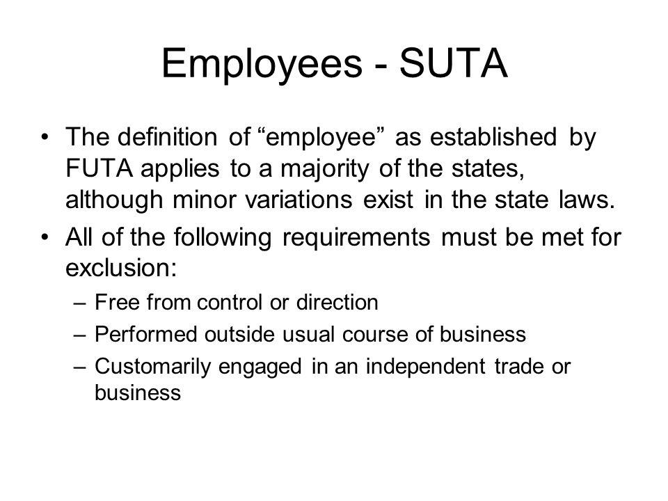 Employees - SUTA