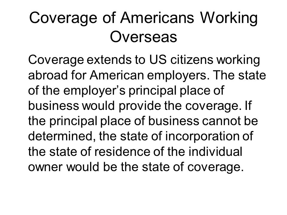 Coverage of Americans Working Overseas