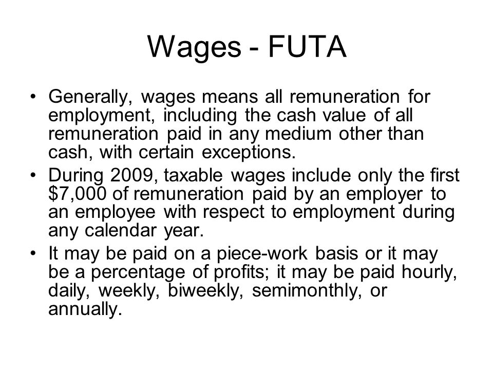 Wages - FUTA