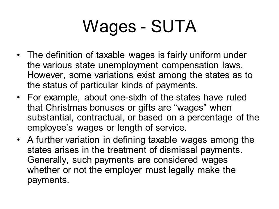 Wages - SUTA