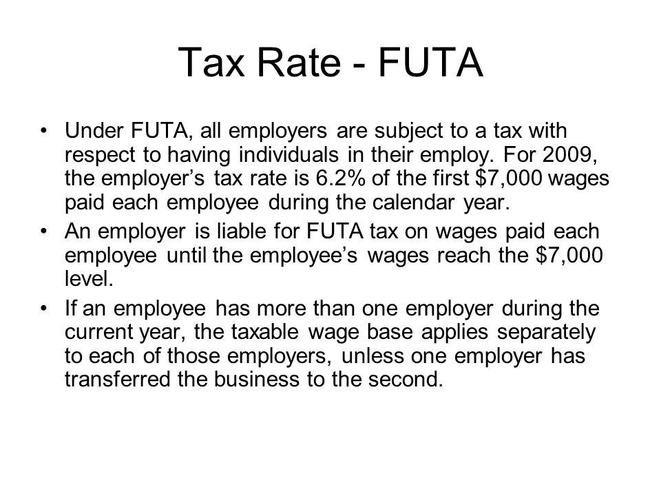 Tax Rate - FUTA