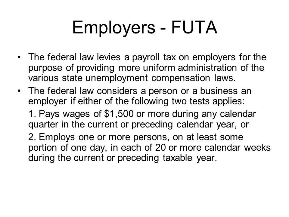 Employers - FUTA