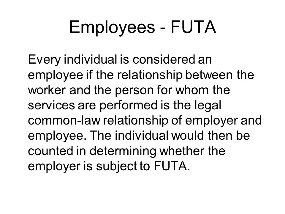 Employees - FUTA