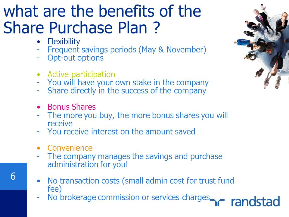 what are the benefits of the Share Purchase Plan