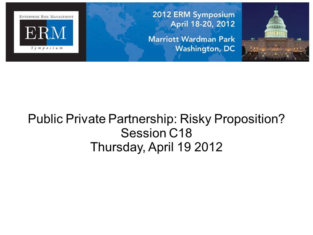 Public Private Partnership: Risky Proposition