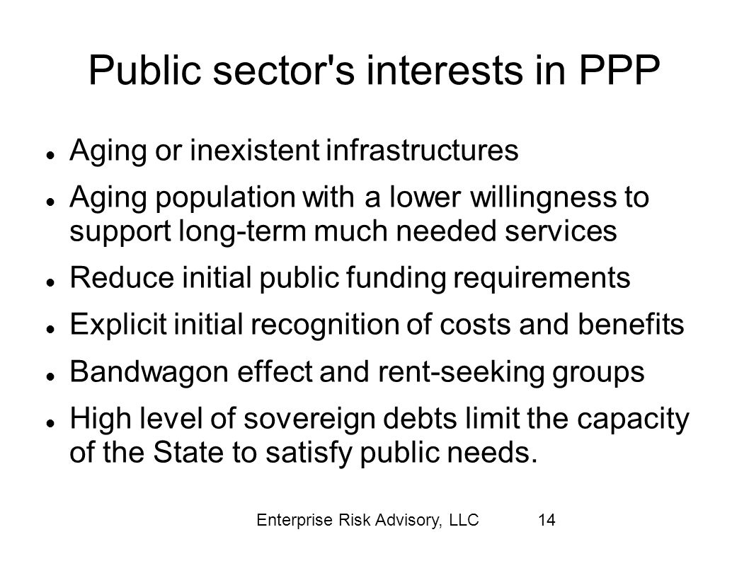 Public sector s interests in PPP