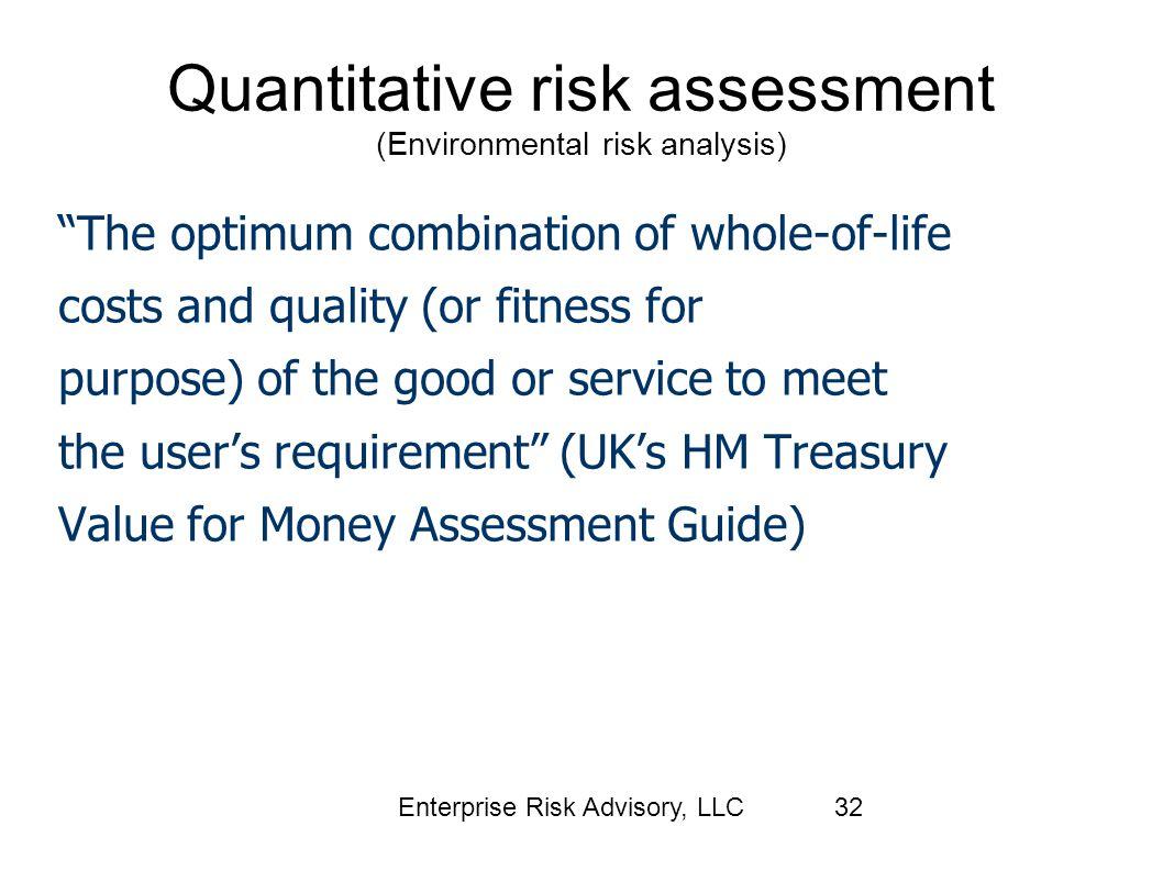 Quantitative risk assessment (Environmental risk analysis)