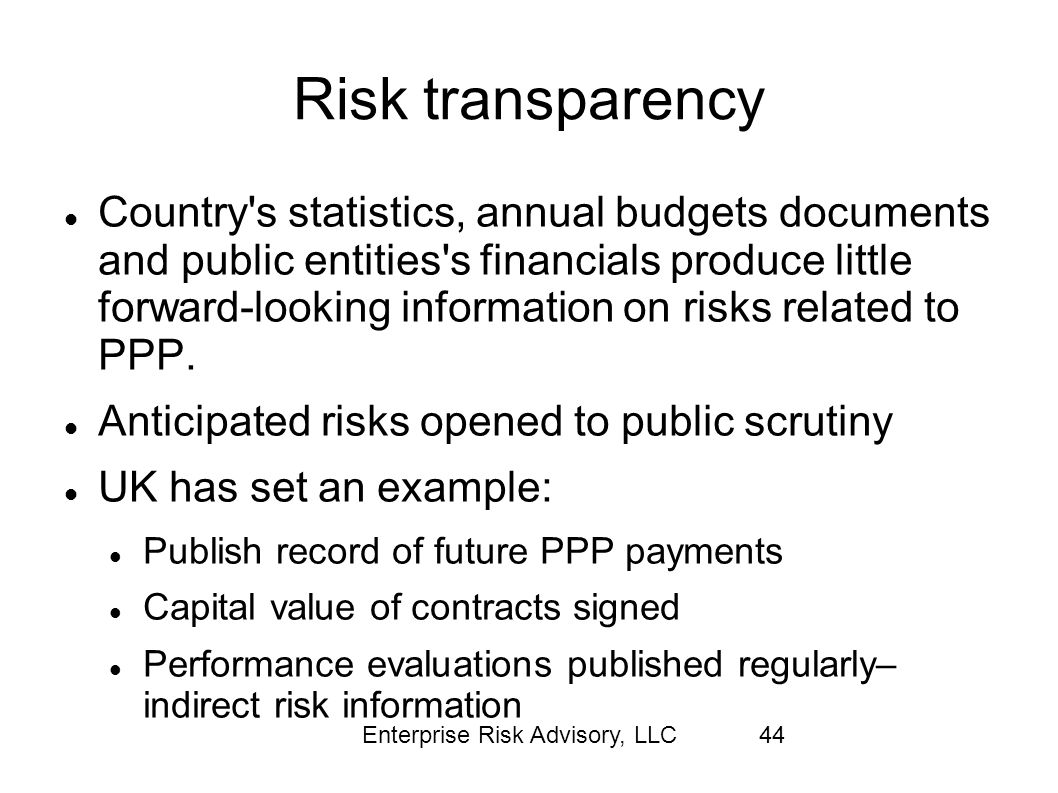 Risk transparency