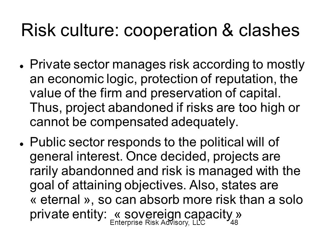 Risk culture: cooperation & clashes