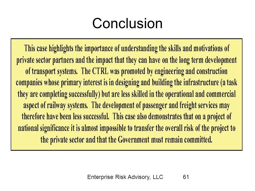Conclusion Enterprise Risk Advisory, LLC