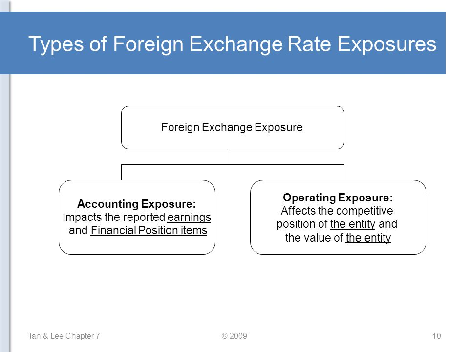Types of Foreign Exchange Rate Exposures